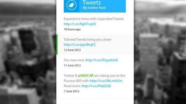 metro ui concept twitter widget psd