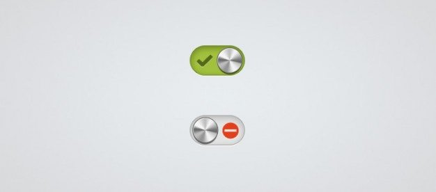 minimal and metalic activation button