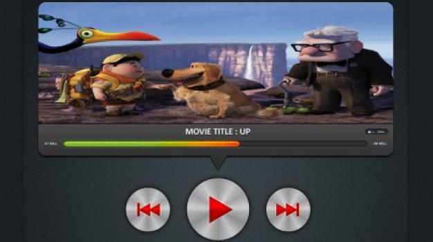 Modern Movie Player UI