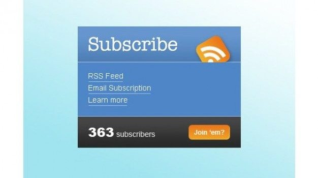 neat subscribe box element psd