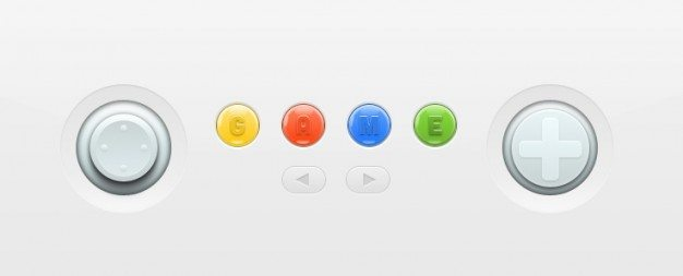 Nintendo console colorful buttons