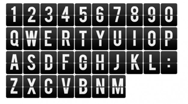 numbers and letters  cards   psd layered material