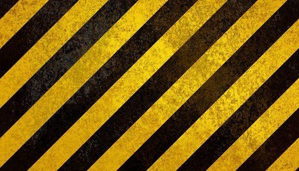 Yellow hazard stripes texture