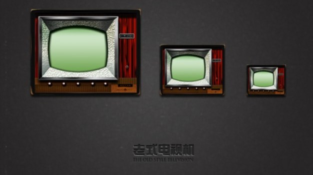 old tv in three sizes