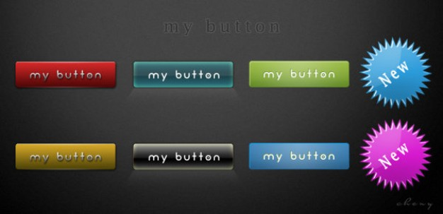 page button on the pad layered material