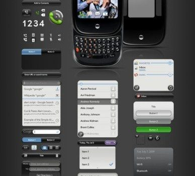 palmpre user interface psd layered material