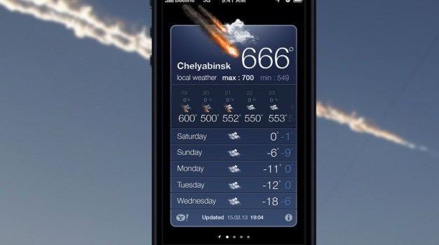 Phone weather application PSD