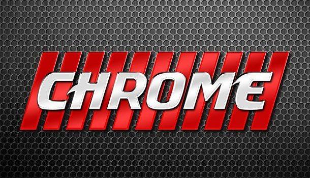 Photoshop chrome letters style
