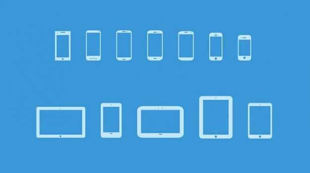 Popular mobile devices icon set