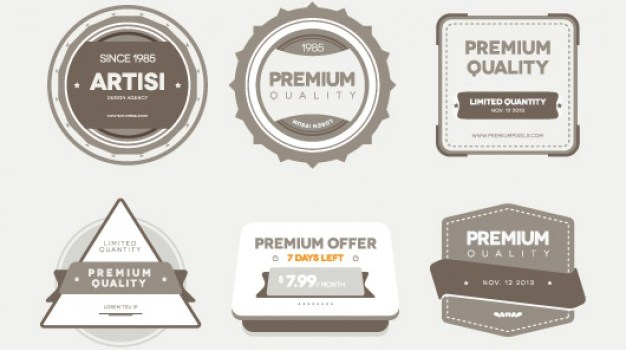Premium Quality Retro Badges