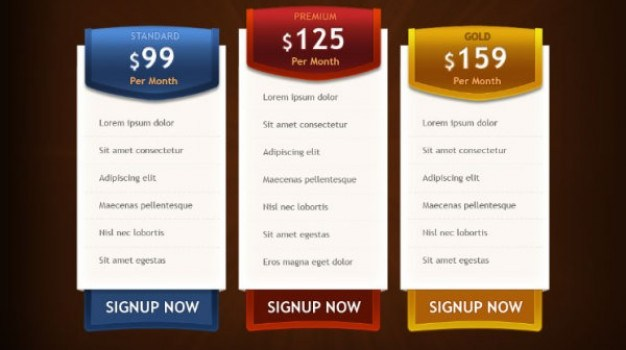 price list template  psd layered