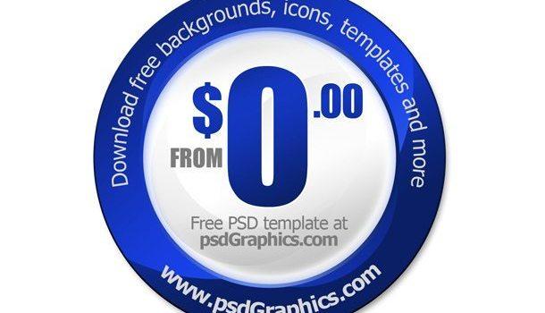 PSD blank price tag template