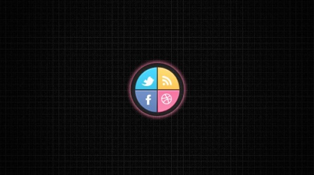 Quarter Circle Social Buttons