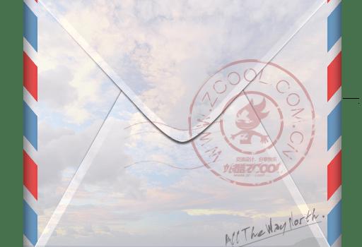 Real envelope zcool postmark stamp PSD
