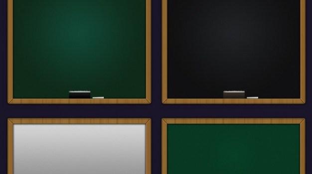 School blackboard in two colors