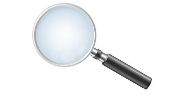 simple magnifying glass icon psd