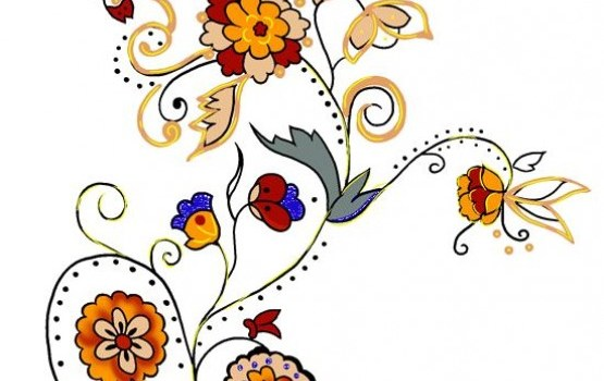 south korea beautiful floral psd source files