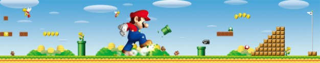 super mario posters psd layered material