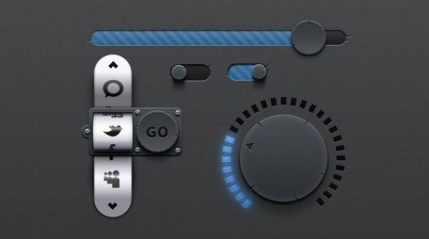 the exquisite rotation button icon psd layered material