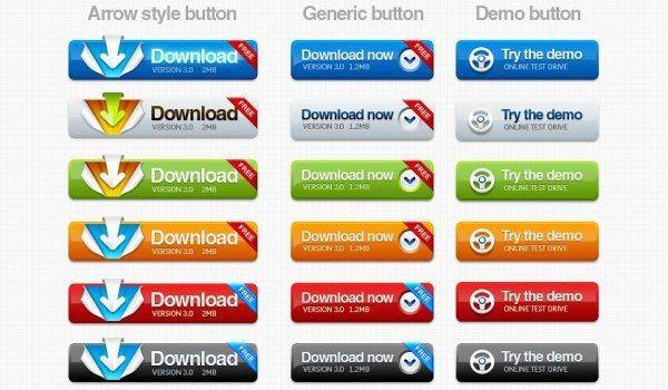 The texture button PSD