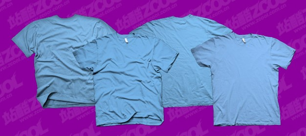 the trend of the blue blank t shirt templates psd layered material