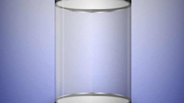 Transparent container template PSD