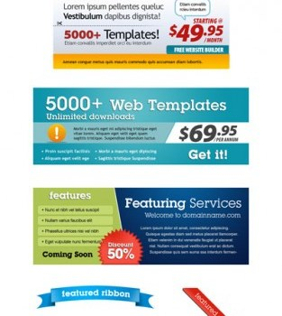 web sales module psd layered material