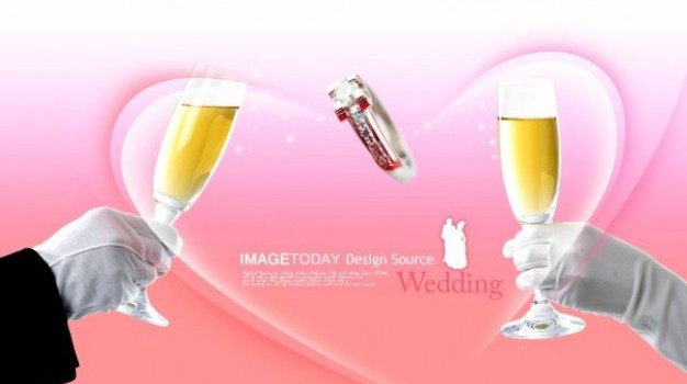 wedding theme psd layered material