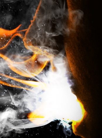 flam11d Create a Fiery Face Explosion
