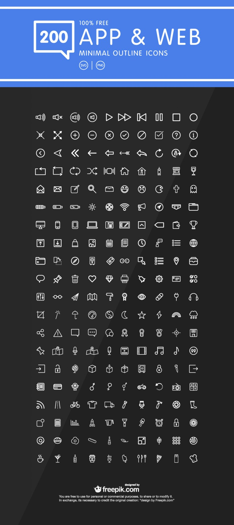 App & Web Outline Icons