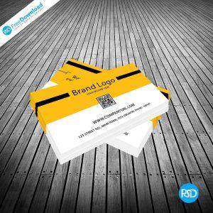 Yellow Business card Design PSD