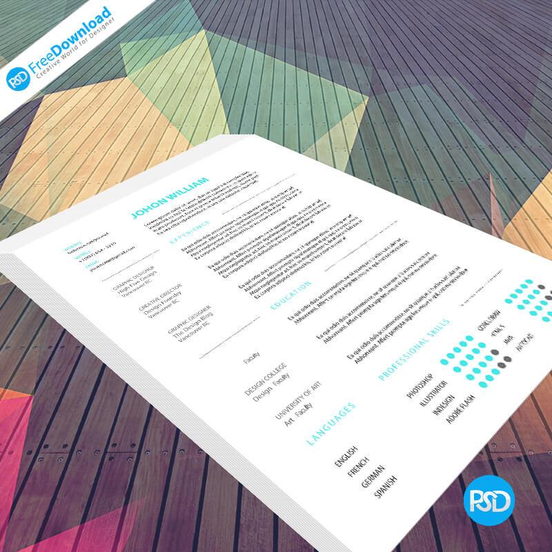 Best Resume Mockup PSD Free