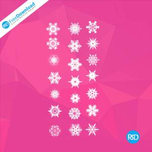PSD Snowflake Icons Set