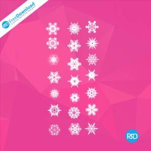 PSD Snowflake Icons Set