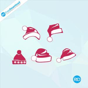 PSD Christmas Santa Hat Icons