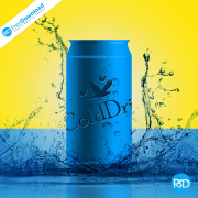 Free Poster Drink Can PSD