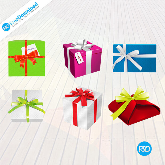 Free PSD Gift Boxes Design