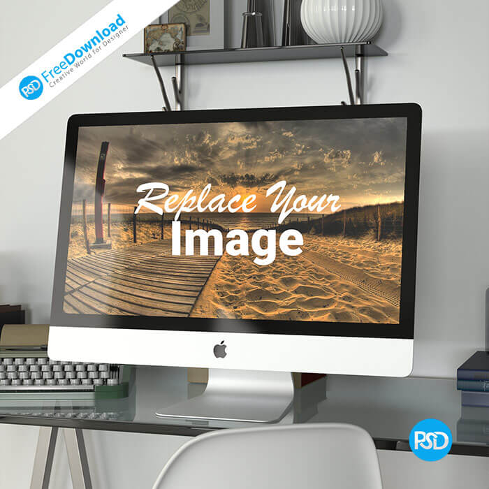 Free Desktop Mockup PSD Download