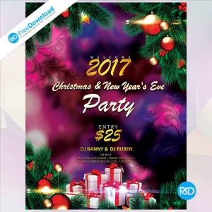 Christmas and New Year DJ Party PSD