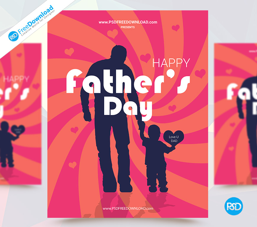 Free Happy Father's Day Flyer Template