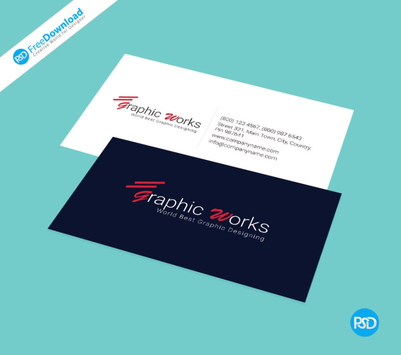 Business card psd free template psd free download for Business card presentation template psd