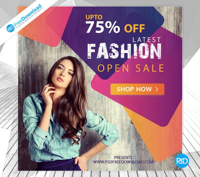 Free Fashion Clothes Banner Psd     PSD Free Download