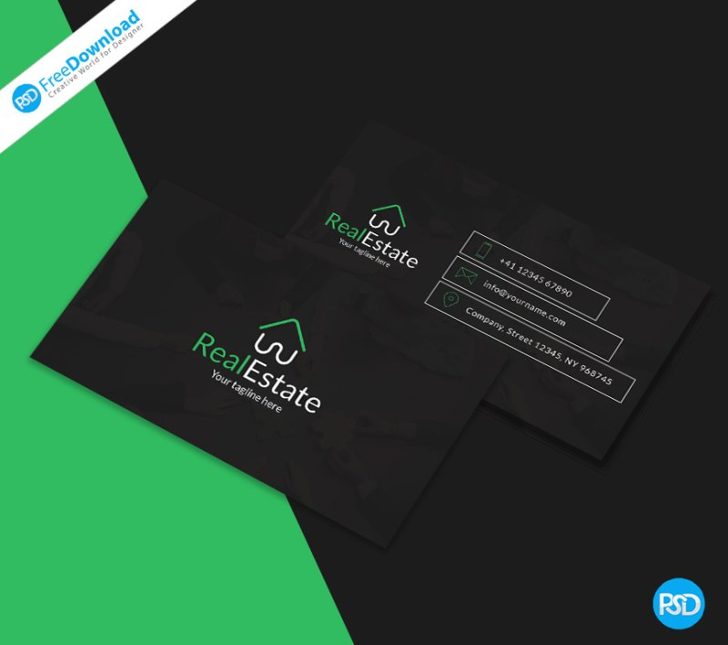 Dark business card template psd free download business card identity brand cool corporate creative minimal reheart Gallery