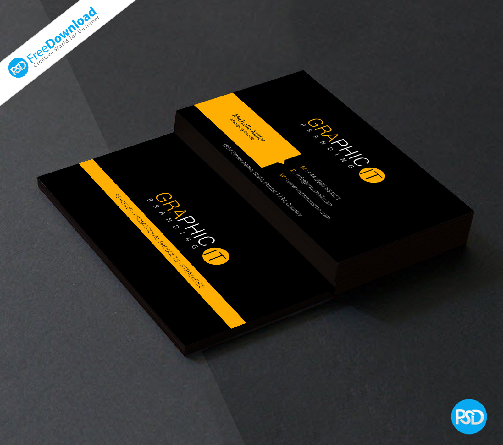 Professional business card design psd psd free download reheart Gallery