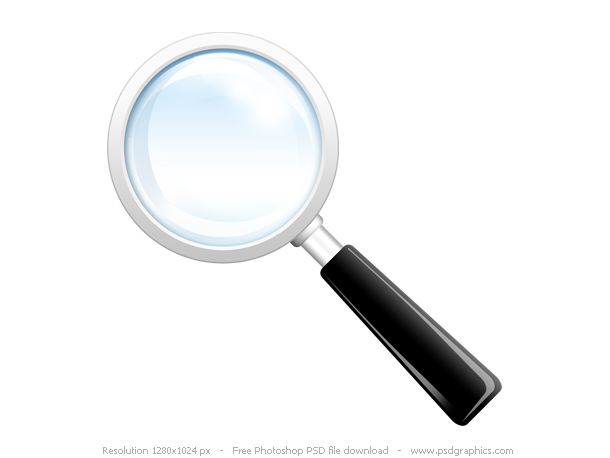 PSD Magnifier Zoom Icons