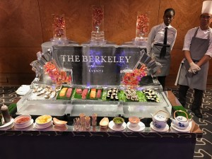 Berkeley Hotel London PSD Ice Art Ice Food Display
