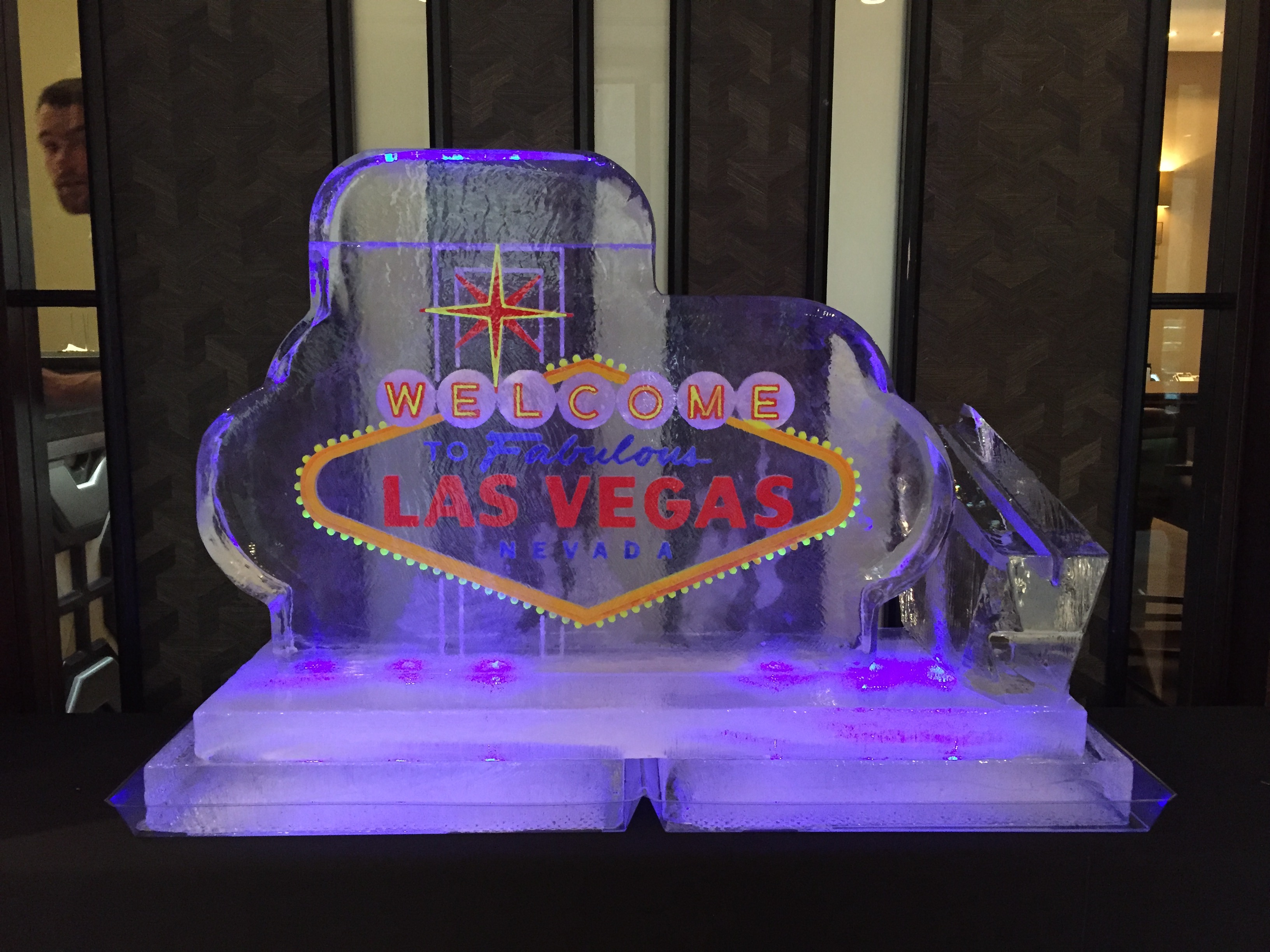 Las Vegas Neon Sign Ice Sculpture
