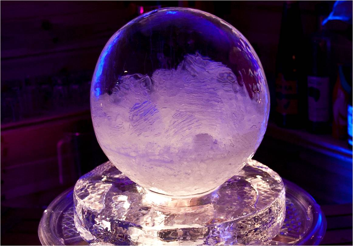 snow globe ice table centre