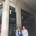 Nicky and Gillian visiting Heddon Street