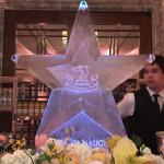The Connaught Hotel star ice sculpture